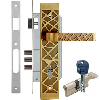 Дверний замок з ручками Kale-152-3MR Argo (+циліндр Mul-T-LOCK-Integrator)