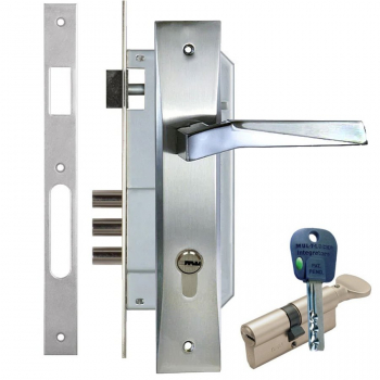 Дверний замок с ручкою Kale 152-3MR Ellada (+циліндр mul-t-lock Integrator)