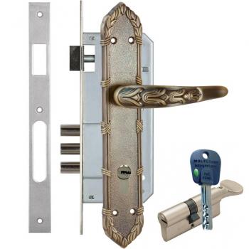 Дверной замок с ручкой Kale 152-3MR Olimp (+цилиндр mul-t-lock Integrator)