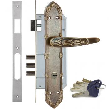Дверной замок с ручкой Kale 152-3MR Olimp (+цилиндр Apecs EM)