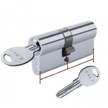 Цилиндр для замка  Kale 164 SNC ключ/ключ (никель)