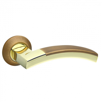 Ручки дверные Fuaro ACCORD RM AB/GP-7 Бронза/Золото