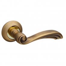 Дверна ручка Fuaro OPERA RM AB/GP-7 Бронза/Золото