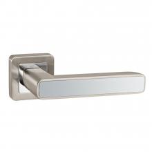 Дверные ручки PUNTO MARS QR SN/CP-3 матовый никель/хром