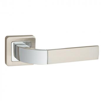 Дверные ручки PUNTO ORION QR SN/CP-3 матовый никель/хром