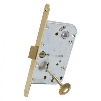 AGB Art. B011015003 Механизм для межкомнатных дверей Mediana Evolution Patent с ключом латунь 90мм