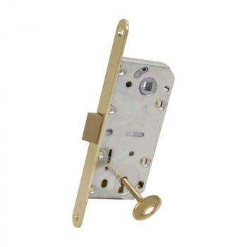 AGB Art. B011013503 Механизм для межкомнатных дверей Mediana Evolution узкий Patent с ключом латунь 90мм