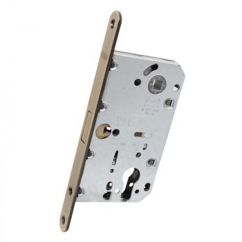 AGB Art. B051035012 Механизм для межкомнатных дверей Mediana Polaris под цилиндр ант латунь 85мм