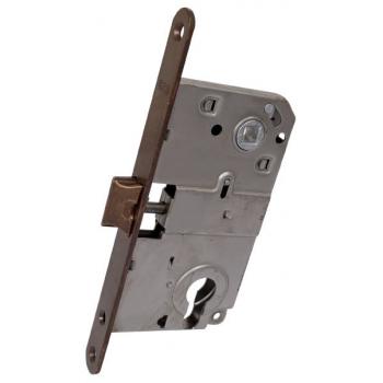 AGB Art. B010405002 Механизм для межкомнатных дверей Mediana совмещенный, бронза, 90мм