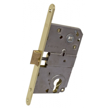 AGB Art. B010405003 Механізм для міжкімнатних дверей Mediana комбінований, латунь, 90мм