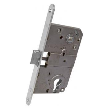 AGB Art. B010405034 Механизм для межкомнатных дверей Mediana совмещенный, матовый хром, 90мм