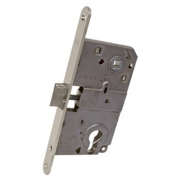 AGB Art. B010405006 Механізм для міжкімнатних дверей Mediana комбінований, нікель, 90мм
