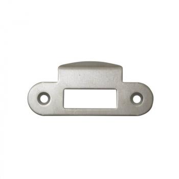 AGB  B010001334 Ответная планка для межкомнатных механизмов , матовый хром с отбойником