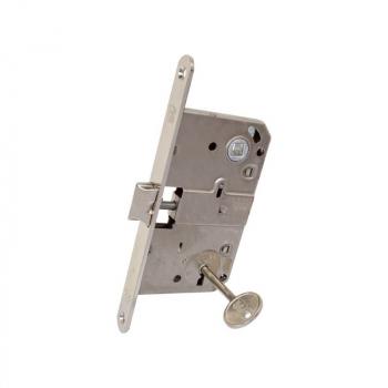 Механизм для межкомнатных дверей AGB Art. B010155006 с ключом Mediana никель