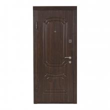 Вхідні двері ПО-01 (коньячний горіх)