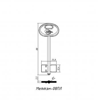 Виготовлення ключів МЕТТЕМ 08П (дублікат ключа)