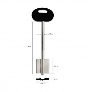 Изготовление ключей MOTTURA широкая длинная правая (дубликат ключа)