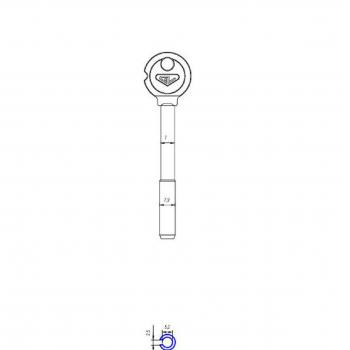 Изготовление ключей XBW-1 (BR 1) Барьер 94.5 mm (дубликат ключа)