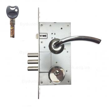 Замок дверний Protect 252R - Imperial-броненакладка FZB