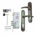 Дверний замок Kale 152-3MR -Apecs-XR-ручка на планці (AB)
