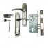 Дверной замок Kale 152-3MR -Apecs-XR-ручка на планке (sn/cp)