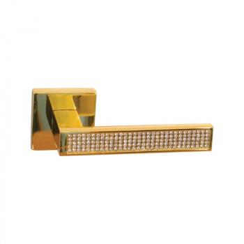 Дверная ручка RDA Aster Swarovski латунь полированная