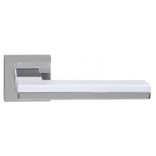 Дверная ручка RDA Domino хром/белый