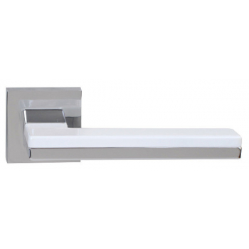 Дверна ручка RDA Domino хром / білий