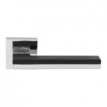 Дверная ручка RDA Domino хром полированный/черный