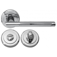 Дверна ручка RDA Milano 5250 з накладками-поворотниками хром