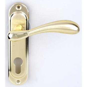Ручка на планке под ключ RDA ImolaW полированная латунь/матовая латунь (под замок 1025)