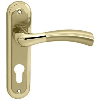 Ручка на планке под ключ RDA Siena полированная латунь/матовая латунь (под замок 1025)