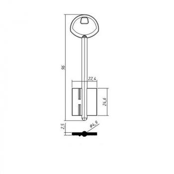Изготовление ключей ГАРДИАН 3 (дубликат ключа)