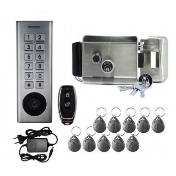 Уличный комплект СКД електрозамок и радио-кодовая клавиатура SEVEN з 15 ключами