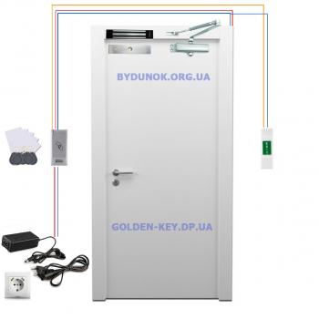 Комплект электромагнитного замка + контроллер SEVEN и доводчик FRD