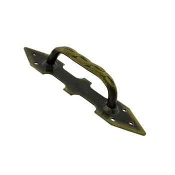 Кована ручка Кручена-270 (лак, бронза)