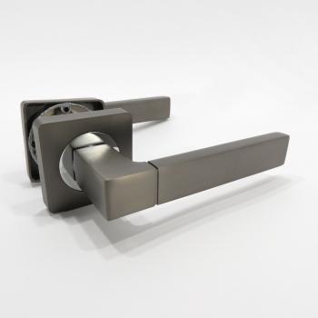 Дверні ручки PARTNER R102 MBN/CP графіт / хром