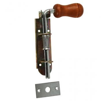 Засов-пружина №120 (дерев'яна ручка)