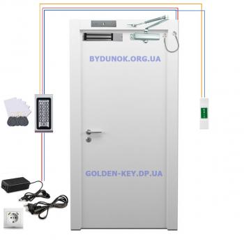 Комплект электромагнитного замка + кодовая клавиатура SEVEN и доводчик FRD