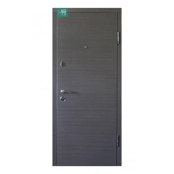 Входные двери ПК-168 Венге серый горизонт