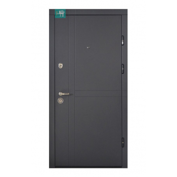 Двері МЕТАЛЕВІ ПК-180/161 V ЕЛІТ Антрацит Vinorit/Царга шале (Міністерство Дверей)