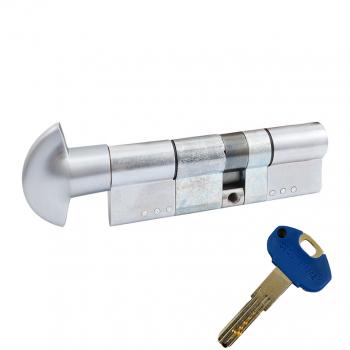 Цилиндр SECUREMME K1 ключ-тумблер (мат хром)