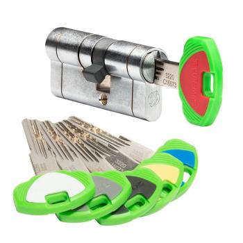 Цилиндр замка SECUREMME K22 ключ-ключ (мат хром)