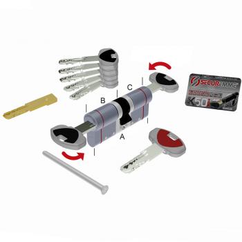 Цилиндр замка SECUREMME K50 ключ-ключ (мат хром)