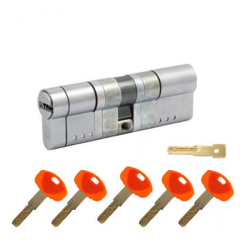 Цилиндр замка SECUREMME K64 ключ-ключ (мат хром)