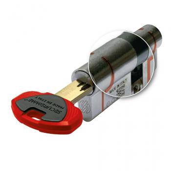 Цилиндр замка SECUREMME K75 ключ-ключ (мат хром)