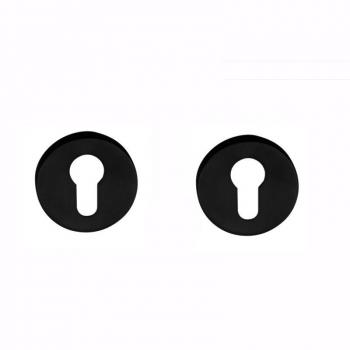 Накладка на цилиндр Condi Collection PZ  круглая Черная (нержавеющая сталь)