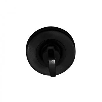 Накладка Condi Collection WC круглая Черная (нержавеющая сталь)