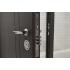 Двери металлические ПК-180/161 V ЕЛІТ Венге темный/Белая текстура (Министерство Дверей)