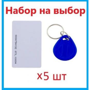 Набор ключей доступа MIFARE 5 шт (брелки или карты) SEVEN R-KITm